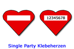 Single Party Klebeherzen